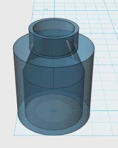 Bild: selbst konstruierter Adapter