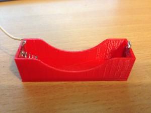 Foto: Selbst gedruckter Batteriehalter