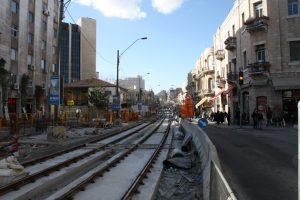2009: Straßenbahnbaustelle
